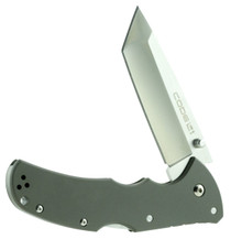 "Cold Steel Code 4 Utility Knife 3.5"" XHP Alloy Tanto 6060 Aluminum"