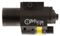 Sun Optics 750 Lumen Light/Laser Red Laser Any with Rail Picatinny or Si