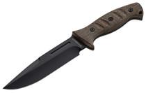 """Boker Magnum Knife 6.75"""" 440 Stainless Spear Point Black Micarta"""