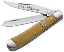 "Boker Traditional Series Folder 3.25"" Stainless Steel Clip Point/Pen Yel"
