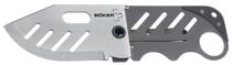 "Boker Plus Folder 2.25"" 440C Stainless Drop Point Stainless Steel"