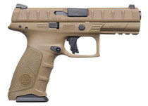 "Beretta APX Full Size 9mm, 4.9"", 17rd, Flat Dark Earth, 3-Dot Sights"
