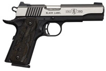 "Browning Black Label Medallion Pro, .380 ACP, 4.25"", 8rd, Stainless Steel"