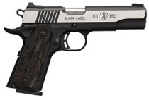 "Browning Black Label Medallion Pro 1911, .380 ACP, 4.25"", 8rd, Night Sights"