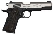 "Browning Black Label Medallion Pro 1911, .380 ACP, 4.25"", 8rd, Night Sights"