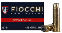 Fiocchi Shooting Dynamics 357 Magnum 158gr, Copper Metal Jacket Flat Point 50rd/Box