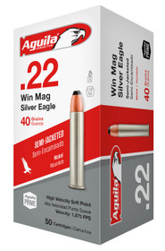 Aguila Silver Eagle 22 WMR, 40gr Jacketed 50rd/Box