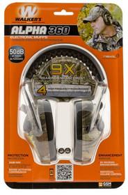 Walkers Game Ear Alpha Muffs 360 Earmuff 24 dB Camo