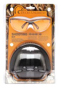 Pyramex Combo Kits PM8010 Earmuff/Shooting Glasses 26 dB Black/Oran
