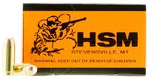 HSM Training 10mm Automatic 180gr, FMJ 50 Bx/ 20 Cs