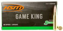 HSM Game King 308 Win/7.62mm 165gr, SBT 20 Bx/ 25 Cs