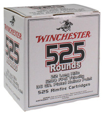 Winchester 555 22LR 36gr, Copper-Plated, Hollow Point, 525rd/Box