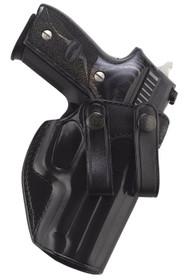 Galco Summer Comfort Inside Waistband Holster, Fits Kimber Micro 9, Sig P938, Right Hand, Black Leather