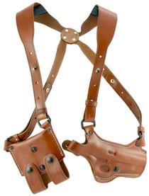 """El Paso Saddlery Spyder Shoulder System 1911 3.5"""" Barrel Leather Russ"""