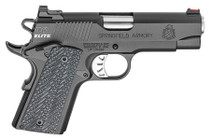 "Springfield 1911 Range Officer Elite Compact Single 45 ACP 4"", Black G10 Grip, Black, 6rd"