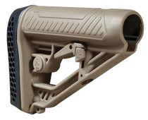 Adaptive Tactical EX Performance M4-Style Rifle Stock Polymer Flat Dark Earth