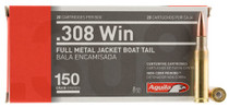 Aguila 308 Win 150gr, Full Metal Jacket Boat Tail 20rd Box