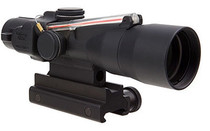 Trijicon 3x30 Compact ACOG Scope Dual Illuminated Red Chevron .223/62gr. Ballistic Reticle, Colt Knob Thumbscrew Mount