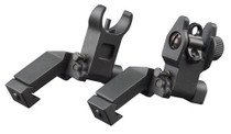 Aim Sports 45 Degree Low Profile AR Flip Up Sights Aluminum Black