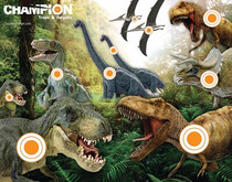 Champion Full-Color Targets Dinosaur 11x14 Inches 12 Per Package