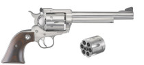 "Ruger Blackhawk Convertible 10 MM & 40 SW 6.5"" Barrel Stainless Steel, Rosewood Grips"