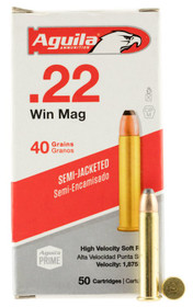 Aguila Silver Eagle 22 WMR, 40gr, Jacketed. 50rd/Box