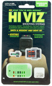Hiviz M&P Front and Rear Sight S&W M&P Green/Red/White Front Green/Red/Black R