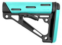 Hogue AR-15 OM Collapsing Buttstock MILSPEC Aqua