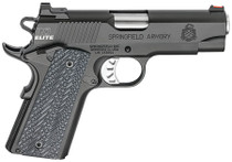 "Springfield 1911 Range Officer Elite Champion 9mm 4"" Barrel Fiber Optic Front  Ambi Safety 9rd Mag"