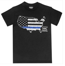 Glock Blue Line Shirt Black 2XL
