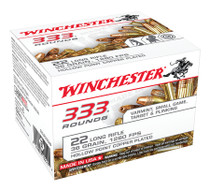 Winchester 22LR Bulk Pack, 36gr Copper Plated Hollow Point, 3330rd/Case