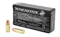 Winchester Super Suppressed 9mm 147gr, FMJ, 50rd Box