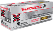 Winchester Super-X 22 WMR 45gr, Jacketed Hollow Point 50 Bx/ 60 Cs