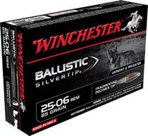 Winchester Supreme 25-06 Remington 85gr, Ballistic Silvertip, 20rd/Box