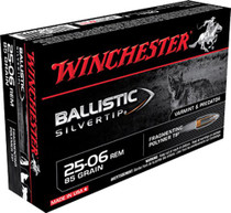 Winchester Supreme 25-06 Remington 85gr, Ballistic Silvertip, 20rd Box