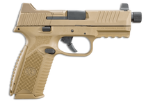 "FN 509T Tactical 9mm 4.5"" Barrel Flat Dark Earth, 3 Dot Night Sights, 2- 24rd and 1- 17rd Mags"