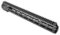 """Zev Large Frame 308 Rifle Wedge Lock Handguard Aluminum Black Hard, 16"""""""