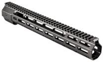 """Zev Large Frame 308 Rifle Wedge Lock Handguard Aluminum Black Hard, 14"""""""
