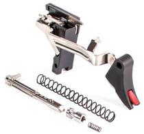 Zev Curved Trigger Ultimate 9mm Black/Red, Glock Gen1-3