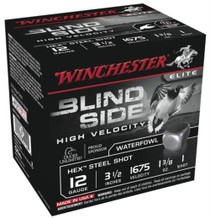 Winchester Blind Side Steel Hex High Velocity Waterfowl 12 Gauge 3.5 Inch 1675 FPS 1.375 Ounce 1 Shot