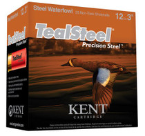 "Kent Teal Steel 12 Ga, 3"", 1.25oz, 5 Shot, 250rd Case"