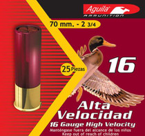 "Aguila Hunting 16 Ga, 2.75"", 1-1/8oz, 6 Shot, 25rd/Box"