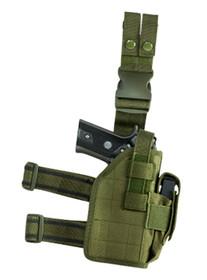 NcSTAR Drop Leg Universal Holster Green Semi-Auto Pistols PVC Fabr