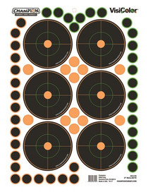 "Champion 3"" Bulls Eye 5 Pack, 150 Pasters"
