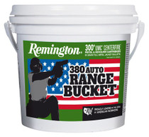 Remington 380 ACP Range Bucket 95gr, MC, 1200rd/Case of 4 Buckets