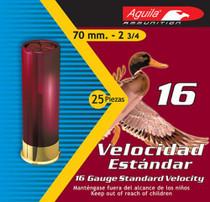 "Aguila Standard Velocity 16 Ga, 2.75"", 1oz, 8 Shot, 25rd/Box"