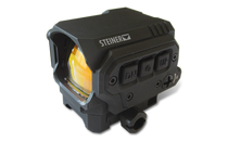 Steiner R1X Reflex Red Dot Sight Switchable: Single dot or 3 dot stadia, 7 levels of Illumination