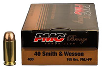 PMC Bronze 40S&W 165gr, Full Metal Jacket, 300rd Bulk Pack