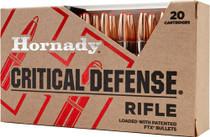 Hornady Critical Defense FTX 308 Winchester 155gr Flex Tip Expanding 20rd/Box