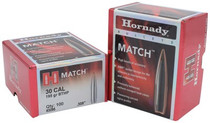 Hornady Match Bullets .308 Diameter 195gr, Boattail Hollow Point, 100/Box